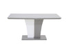 CRYSTAL High Gloss Wood Dining Table With Glass top/bottom black or grey glass