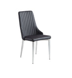 BAIN DINING CHAIR- PU WITH METAL FRAME-  DY1701