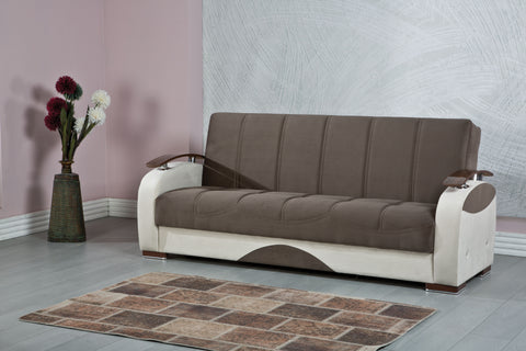 7star shelly sofa bed in Black/grey or brown/cream 3 seater fabric Sofabed 100% made in turkey with 2 free cushions