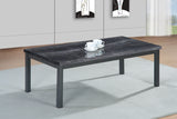Coffee table MDF Coffee Table in Black Brown Cream Metal legs Sale
