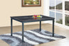 RUBY- DINING TABLE-  BLACK, BROWN AND GREY-HS148-4T