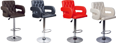 2Pc x SMART BAR STOOL- BLACK, BROWN, WHITE, RED AND GREY- H384A