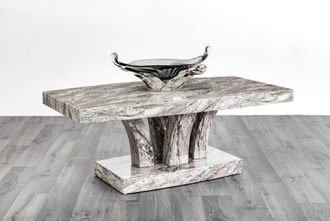 7star terry Coffee Table MDF Laminated Marble Effect grey Modern Design