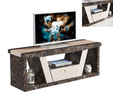 7Star Roni TV Unit Marble Effect Available in Black and Brown with Cream in the Middle. Matching Dining and Coffee Table Available.