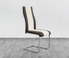 ZEN DINING CHAIR- PU FOAM- BLACK/RED, BLACK/WHITE, BROWN/CREAM -H7022