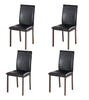 Brown Dining chairs Faux Leather foam padded strong metal frame box of 4 or 6