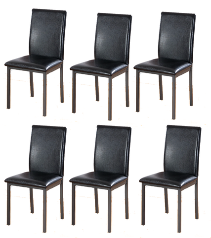 7STAR Bella Dining chairs Faux Leather foam padded strong metal frame box of 4 or 6