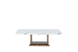 7STAR CIROC COFFEE TABLE HIGH GLOSS MARBLE WITH CHROME LEGS