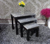 Marble Effect Gloss Finish Nest of Sets Table in different colours and designs