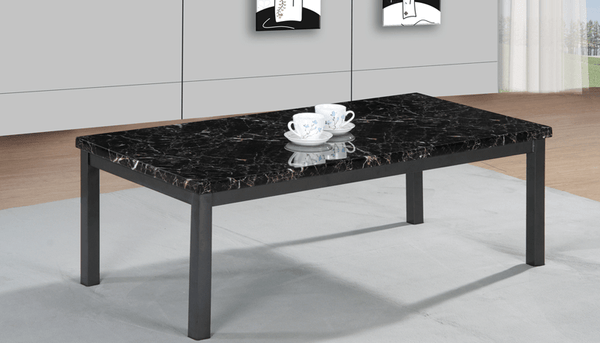 Coffee Table Mdf Coffee Table In Black Brown Cream Metal