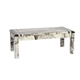 Marble effect mdf gloss finish wooden Coffee Table in Black , grey, white as pictures