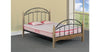 Solo Metal Frame Bed with Wooden Legs and Mesh Base