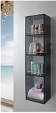 Stylish Glass Cabinet Shelf for Office Living Bathroom Shower Rack Display Unit