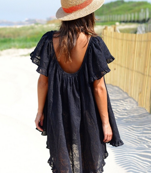 BLACK MIRAGE RUFFLE