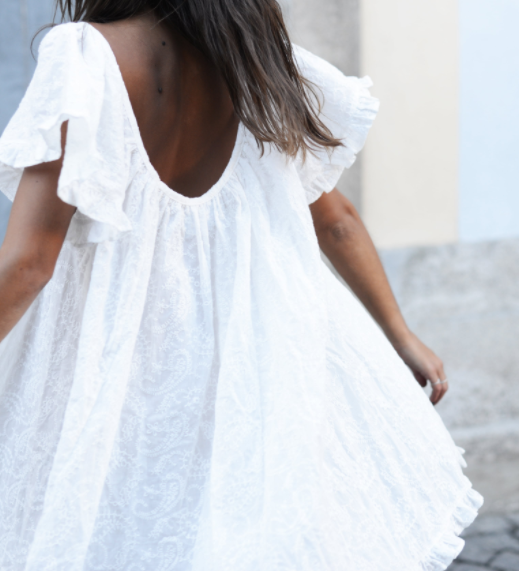 MIRAGE WHITE RUFFLE