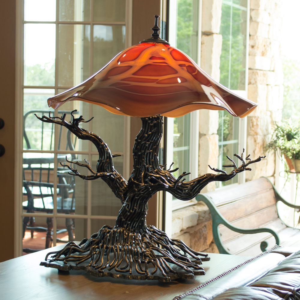 Oak Tree Table Lamps