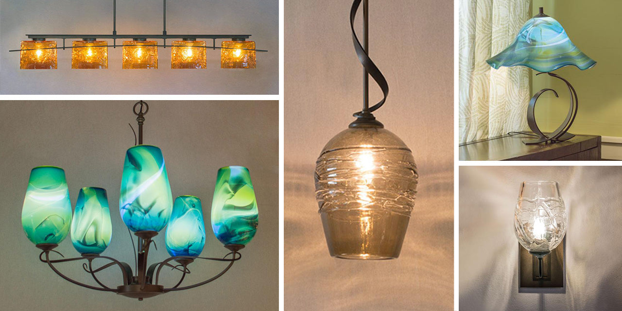 Hubbardton Forge lighting with WGW glass