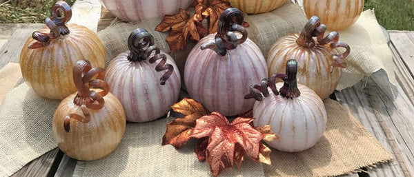 New Gold and Lavender Pumpkins