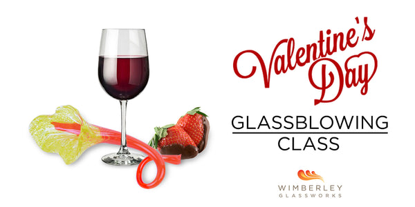 wine, strawberries and glass flowers. Oh my!