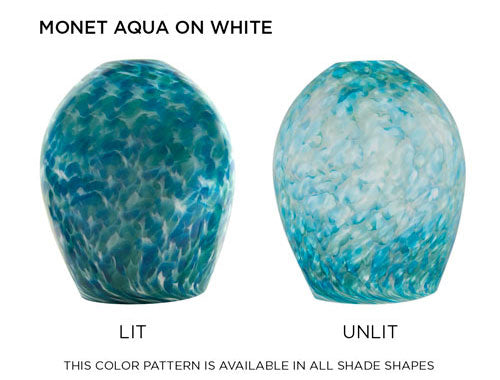 Monet Aqua on White