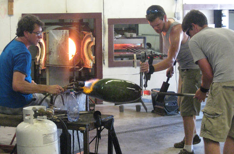 glassblowing installation piece