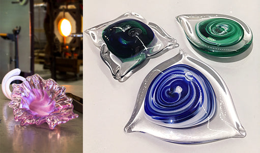 Wimberley Glassworks glass class Lily and paperweight