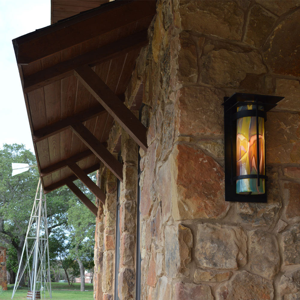 Outdoor Top Plate Banded Sconce
