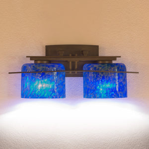 wall lighting with handmade glass shades
