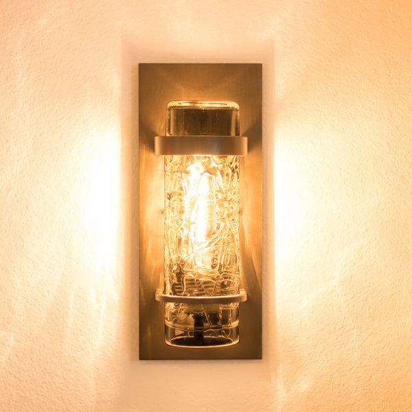 outdoor wall lighting with clear glass shade