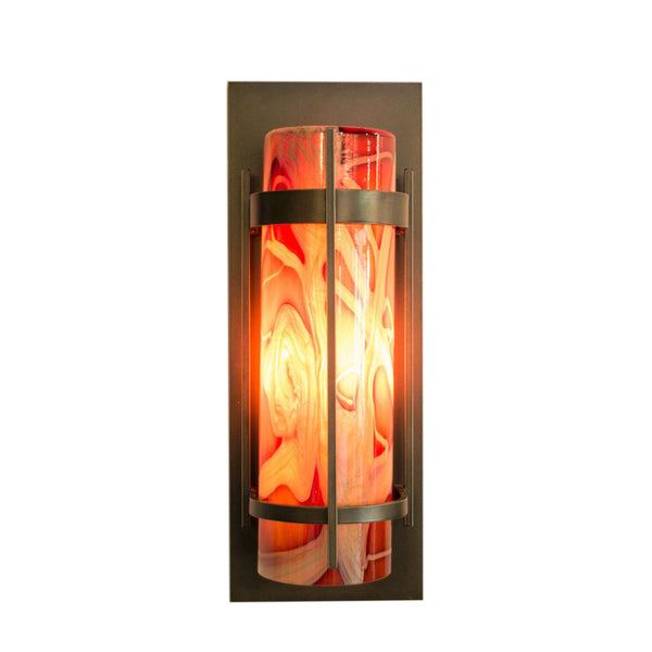 outdoor wall sconce with handmade cylinder shades