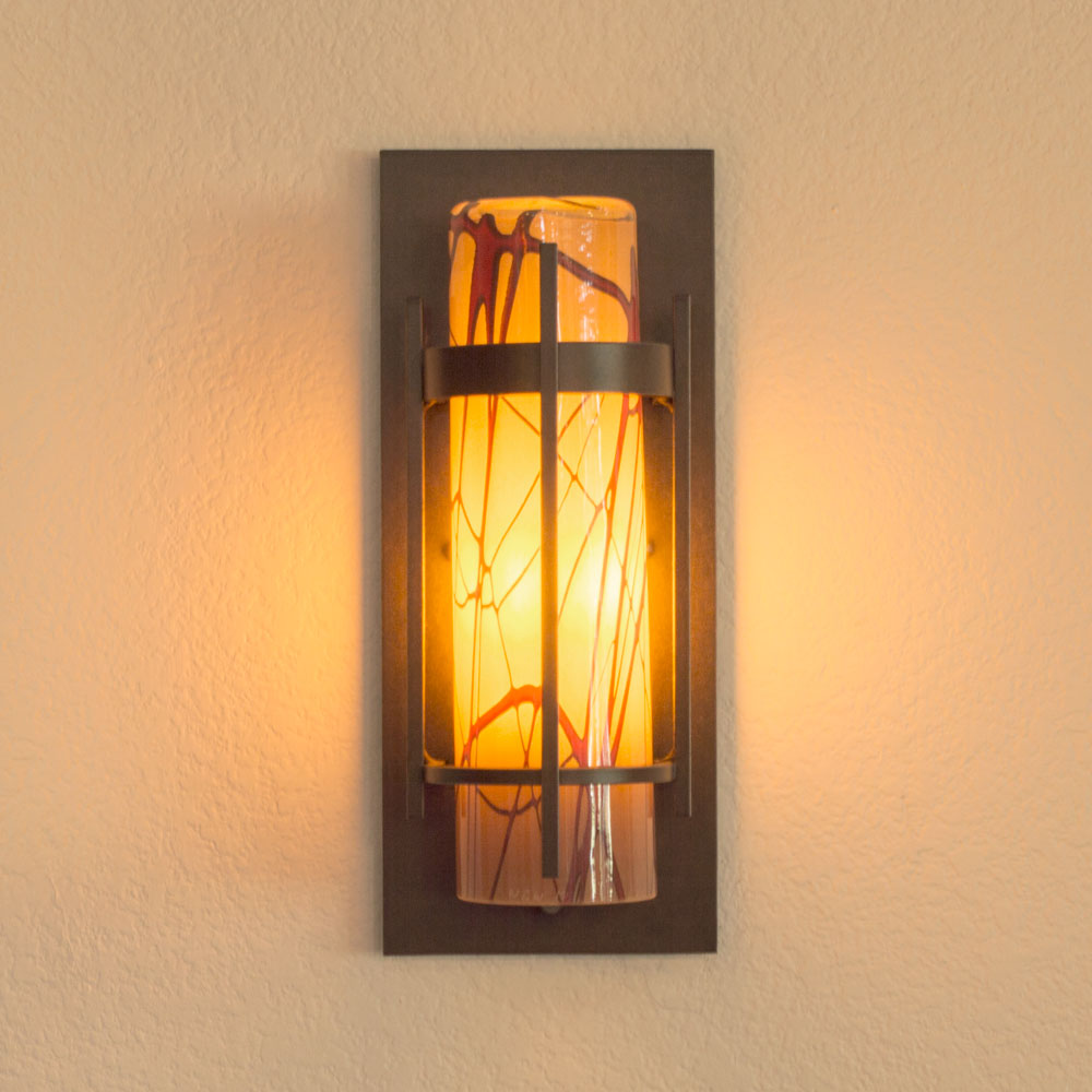 Banded Outdoor Sconce Small | Wimberley Glassworks