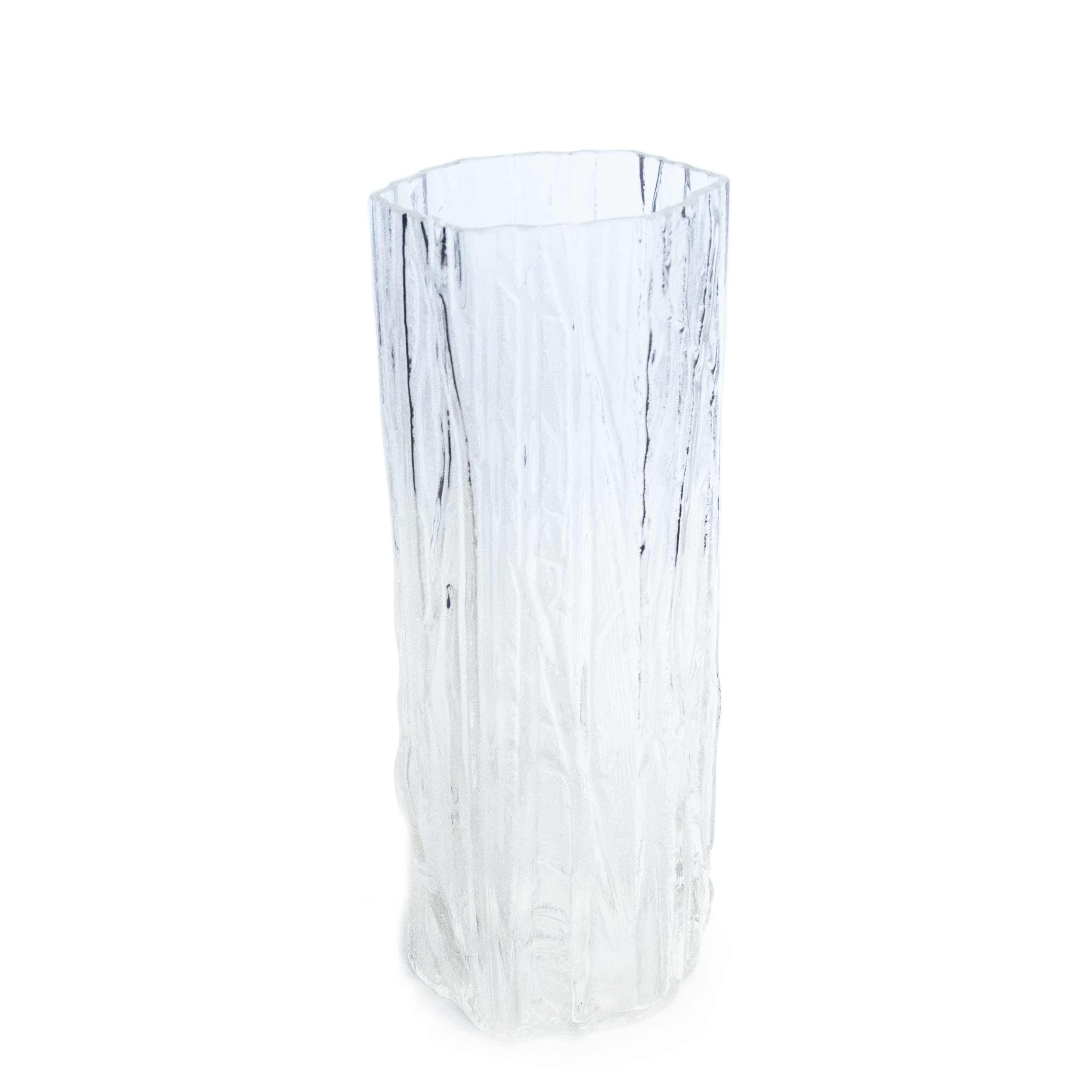 clear handmade glass vase