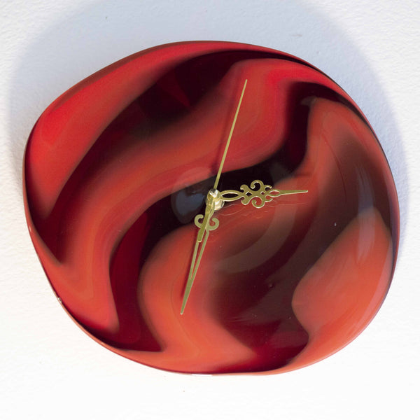Red Handcrafted Clock