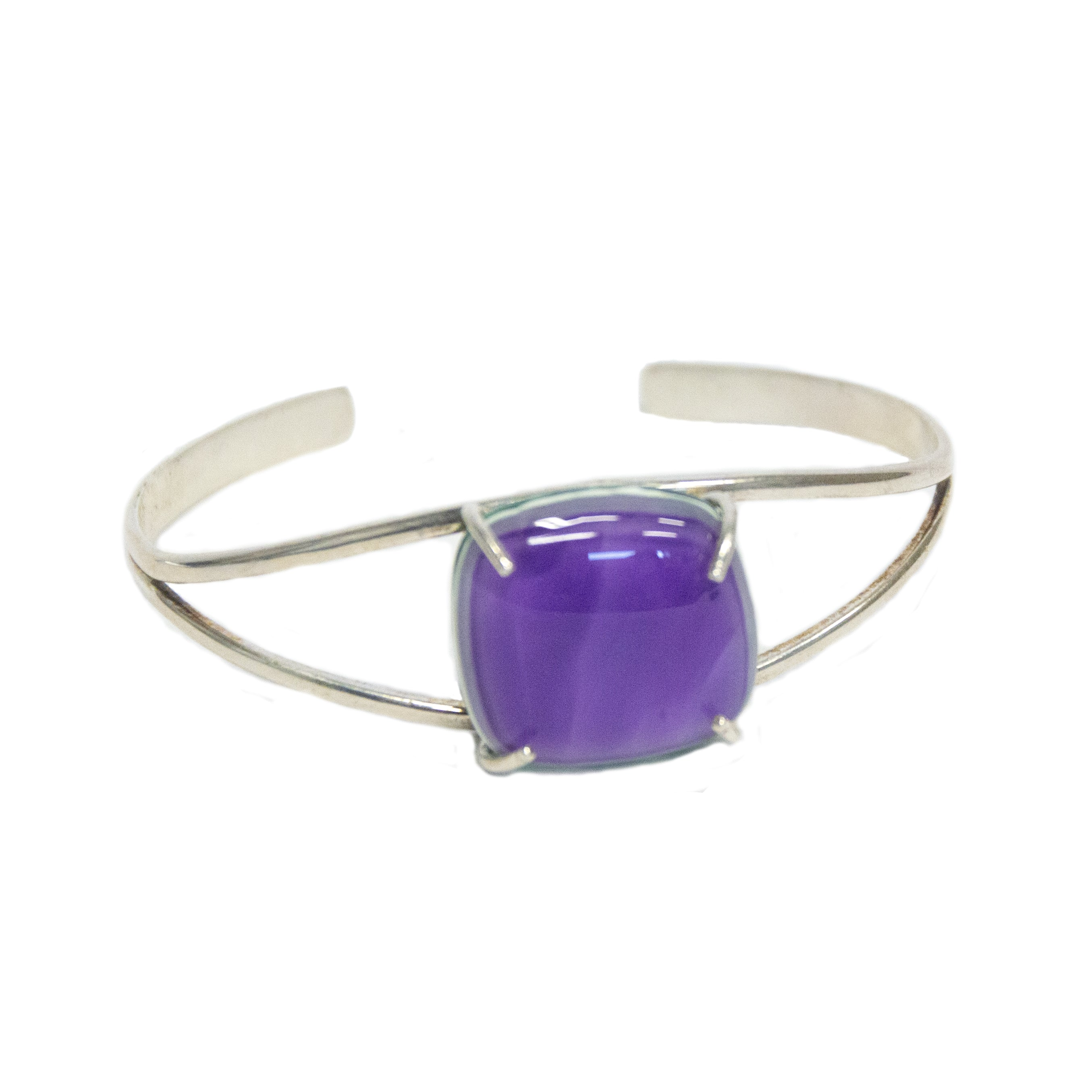 Purple Art Glass Bracelet