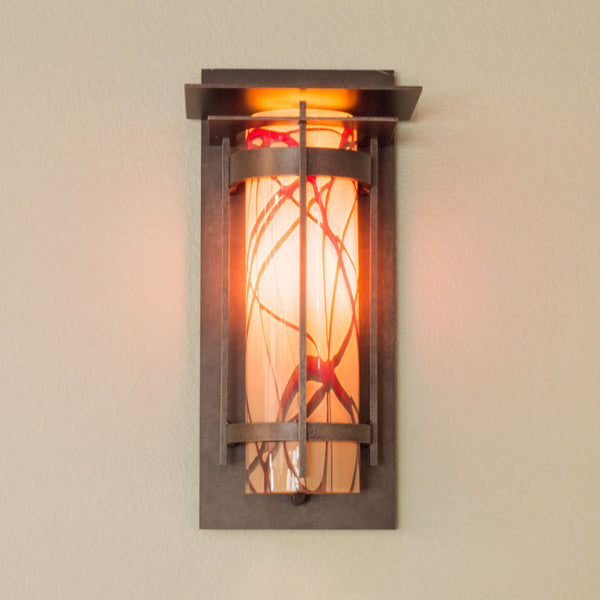 Banded Outdoor Sconce With Top Plate Small