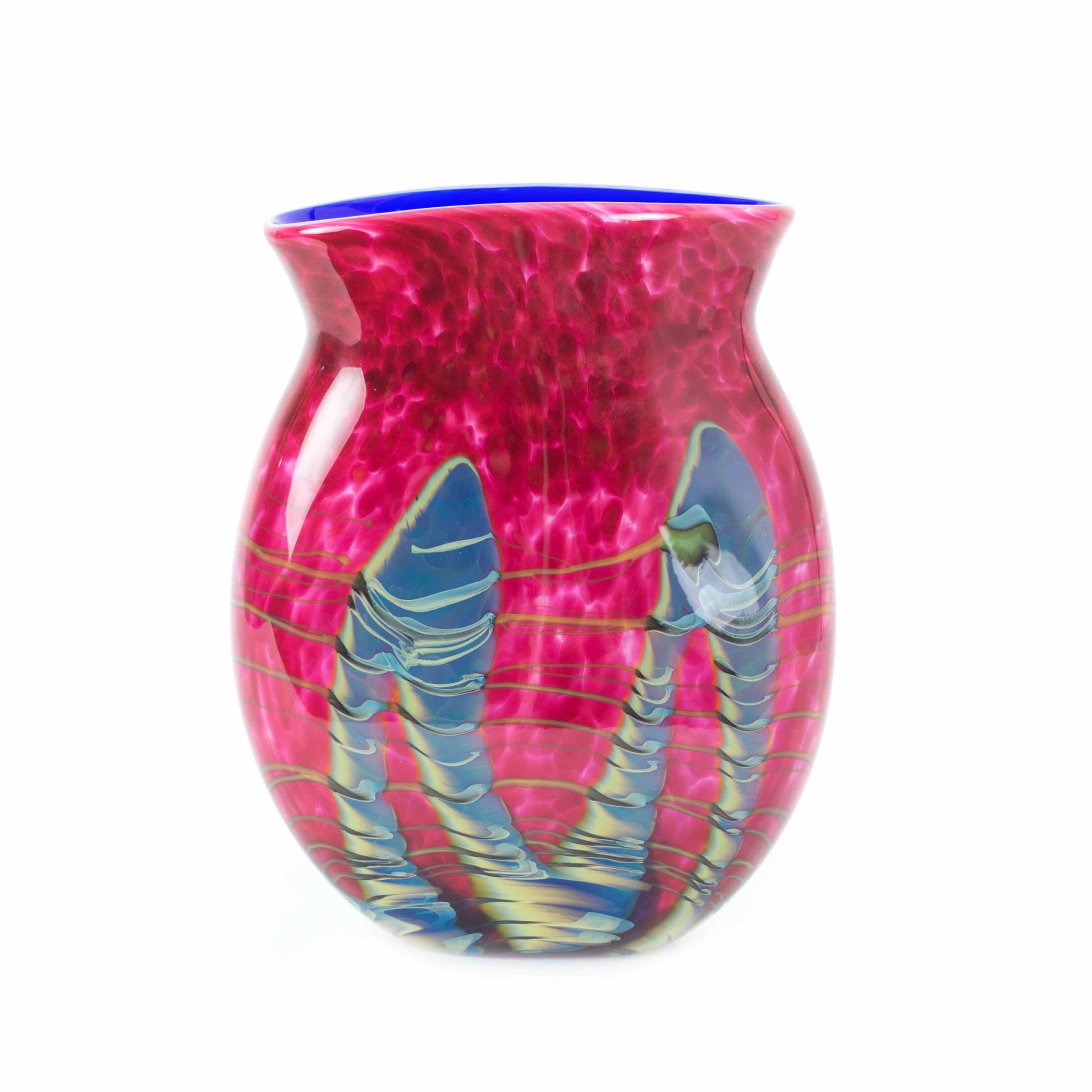 vibrant handmade art glass vase