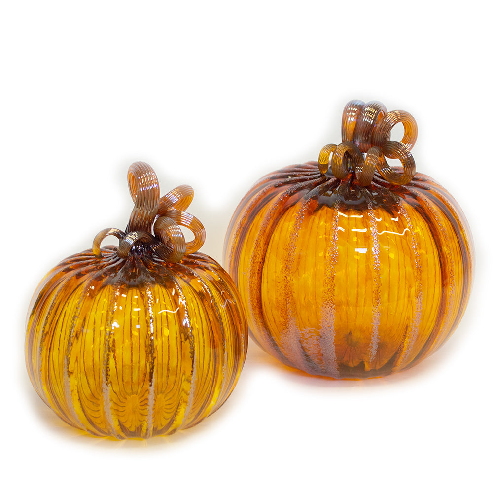 handblown art glass pumpkins