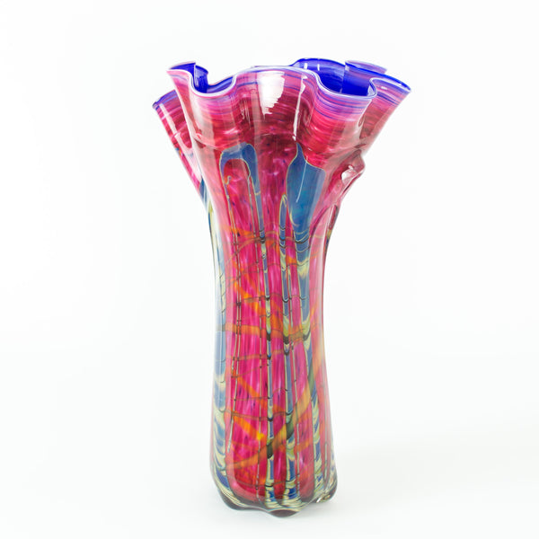 Tropical Bamboo Ruby Swing Vase