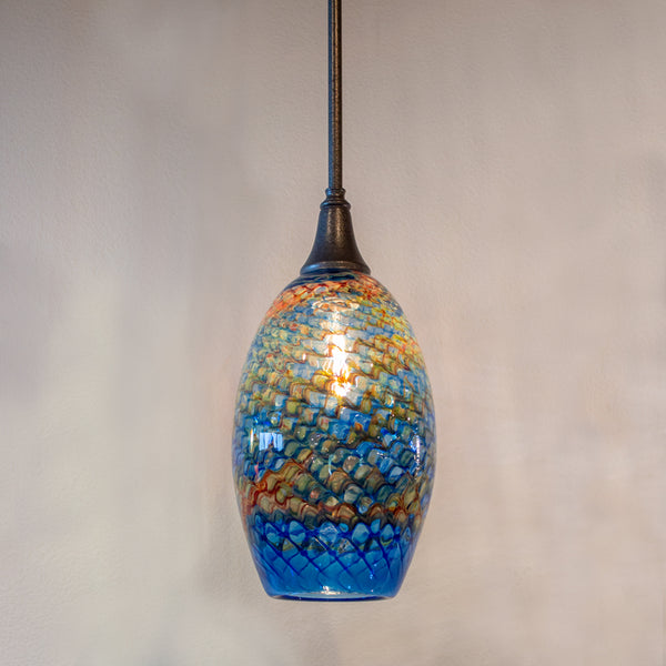 unique art glass pendant lighting for the home