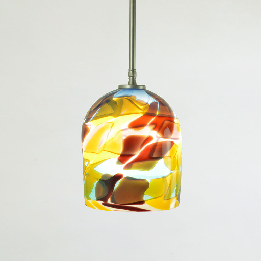 art glass lighting for kitchen