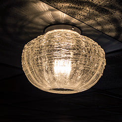 handmade ceiling lighting with clear glass shade