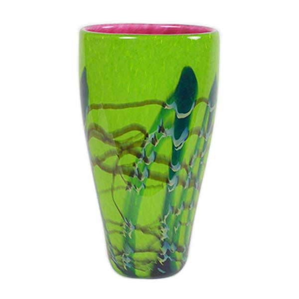 Tropical Bamboo Vases Wimberley Glassworks
