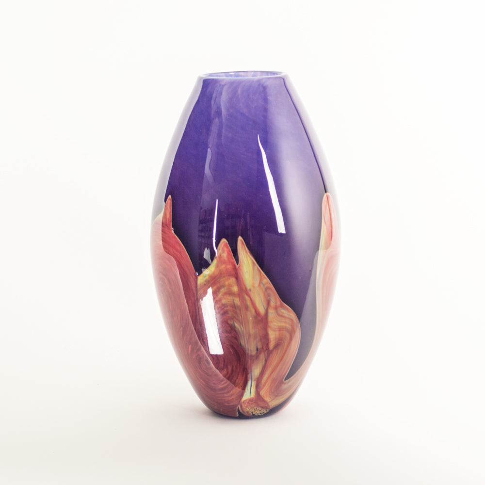 flower art glass handmade vase