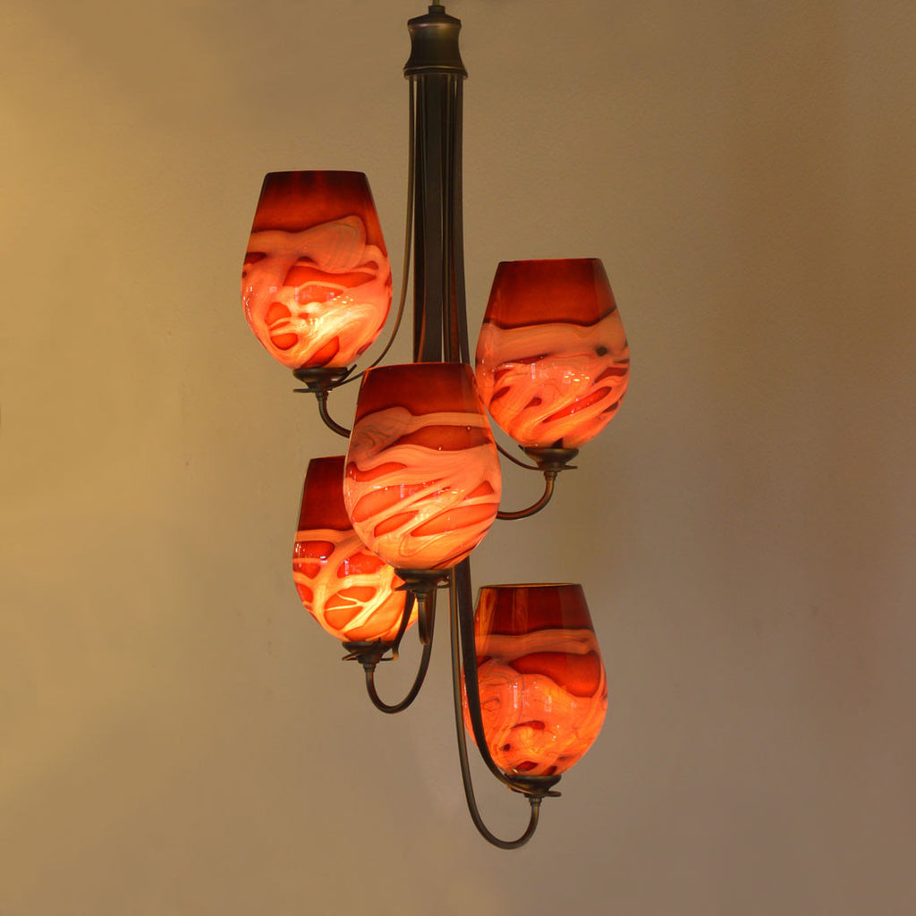 handcrafted art glass lighting for the home