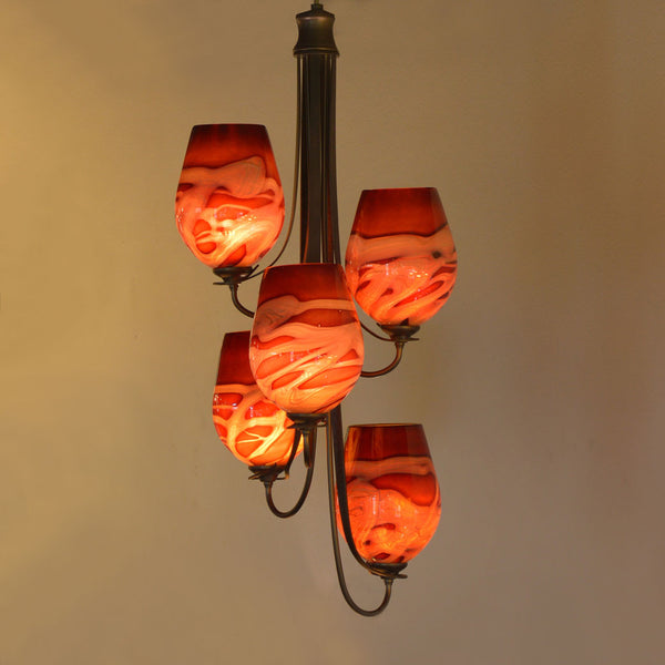 Flora Vertical Chandelier (5 Light)