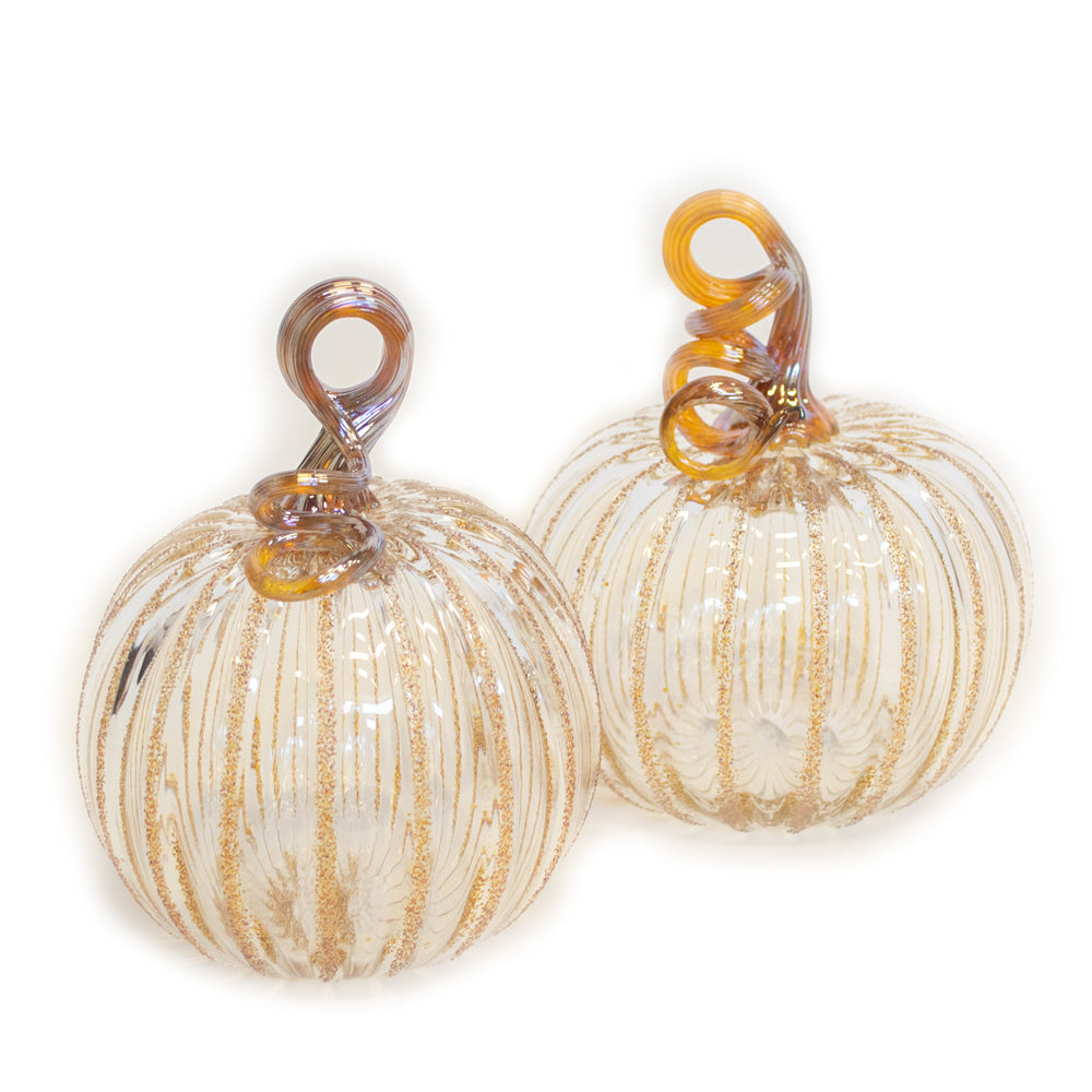 clear art glass pumpkin