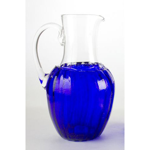handmade glass pitcher