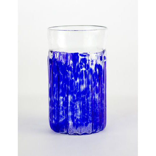 blue handmade glass cups