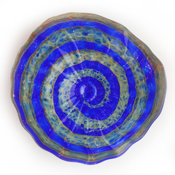 New Beginnings Blue Platter Large and XLarge