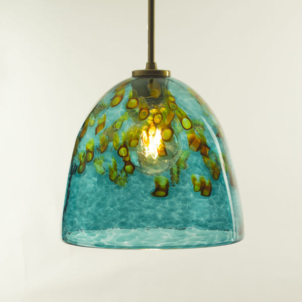 WGW Universal Pendant with Emerald Ocean Flared Shade